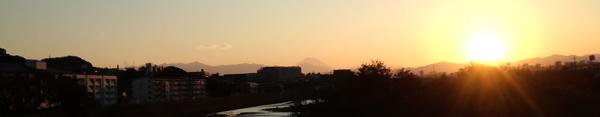 せめてひとなみに。-浅川CRからの富士と夕陽