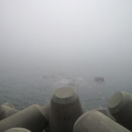 陸を攻めてきている感じのする霧